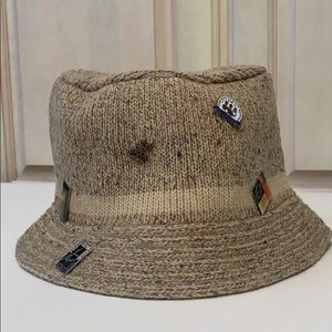 Vintage Authentic Olympic Wool Bucket Hat & Pins